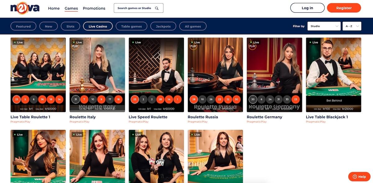21Nova - Live Casino