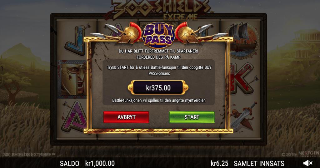 300 Shields Extreme Bonus Buy-funksjon