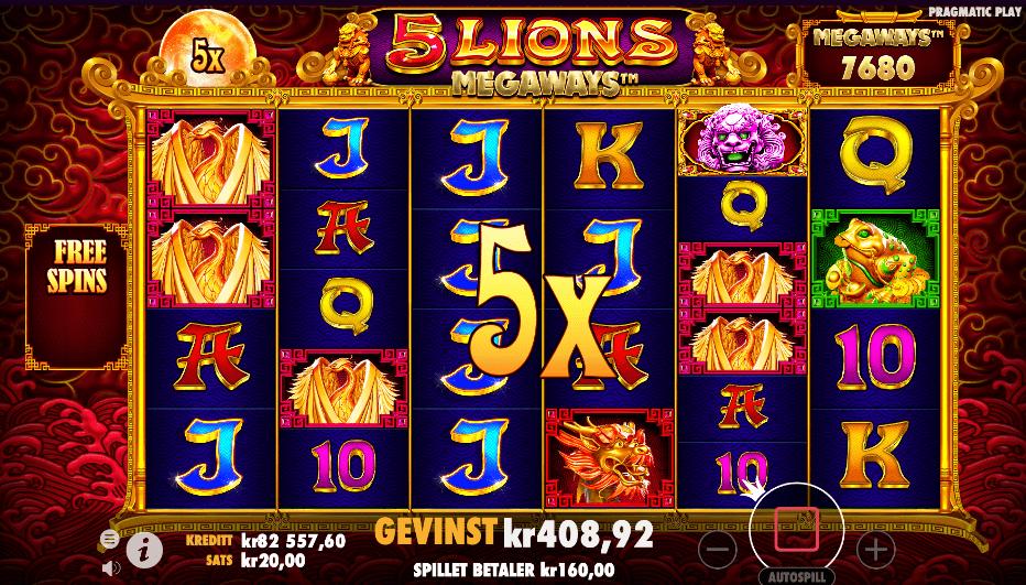 5 Lions Megaways™ bonusrunde
