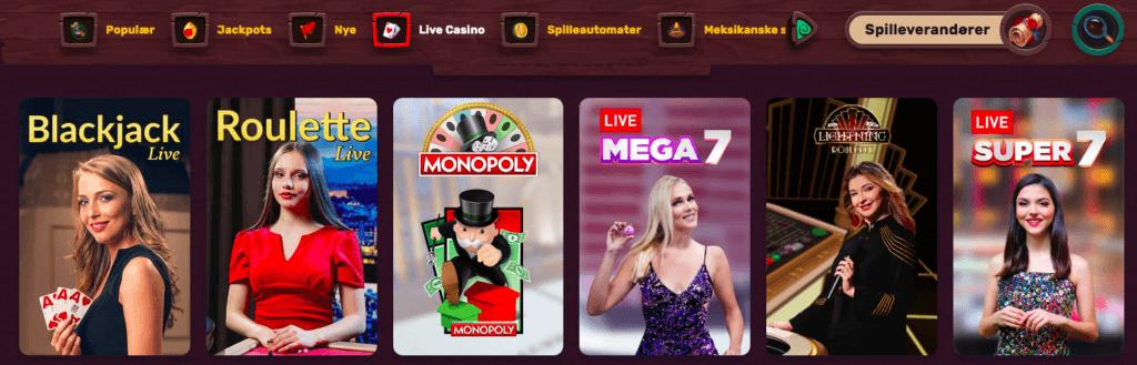 5Gringos Casino - Live Casino