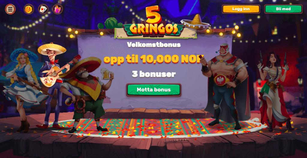 5Gringos Casino forside