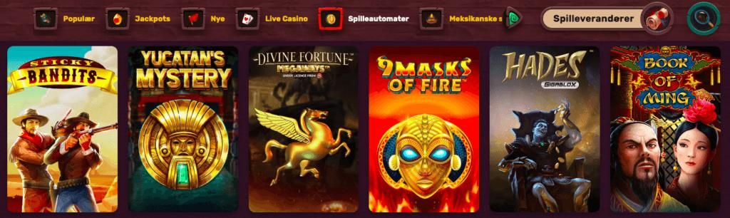 5Gringos Casino spilleautomater