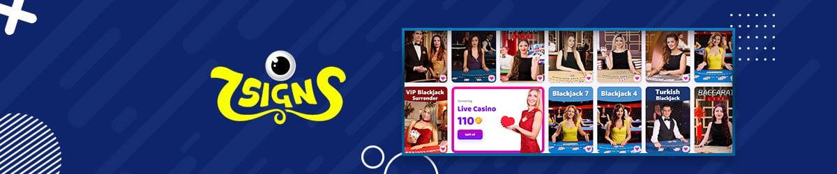 7Signs Casino - Live Casino