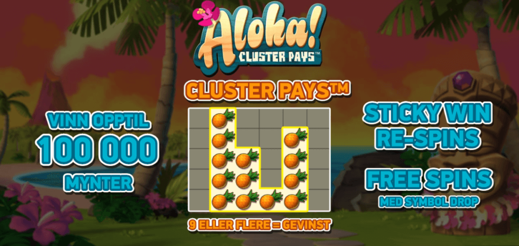 Spilleautomaten Aloha! Cluster Pays