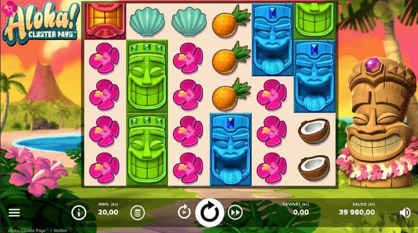 Spilleautomaten Aloha: Cluster Pays av NetEnt