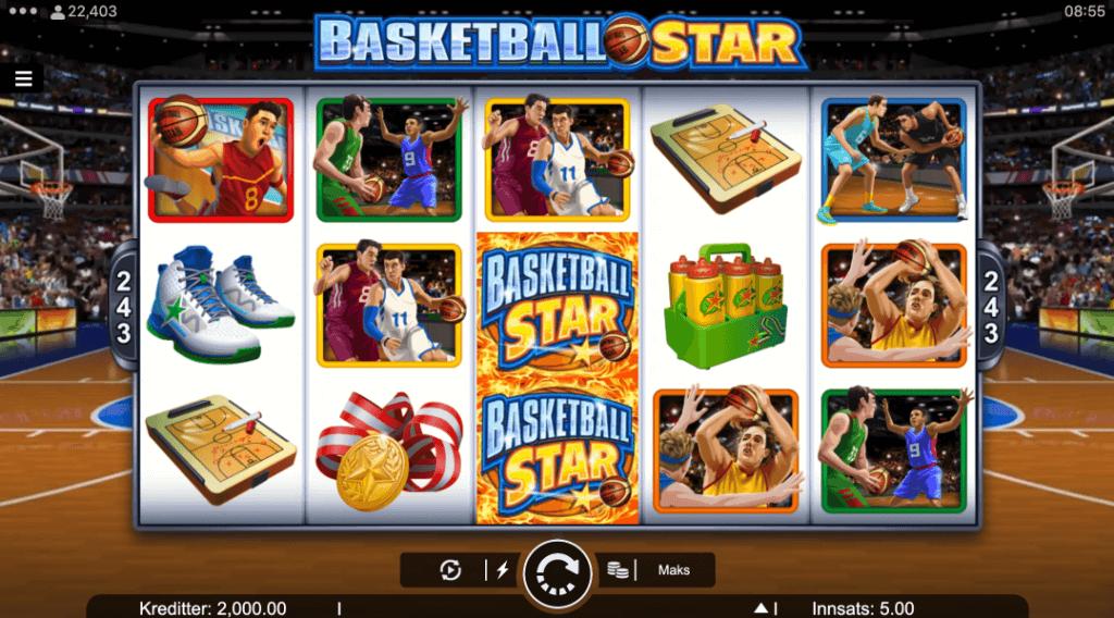 Spilleautomaten Basketball Star av Microgaming