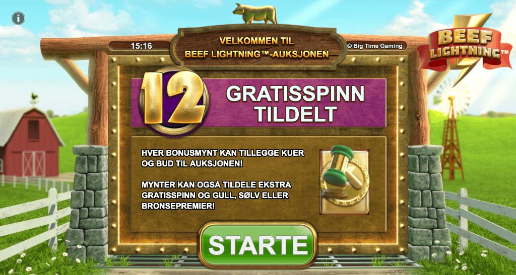 Beef Lightning Megaways™ free spins