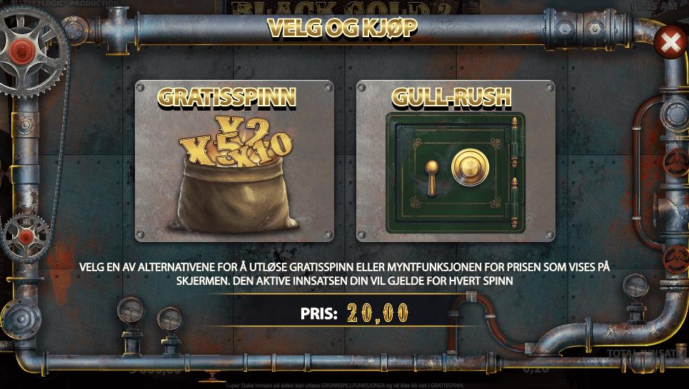 Black Gold 2 Megaways™ Bonus Buy-funksjon