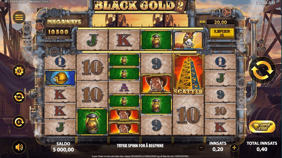 Spilleautomaten Black Gold 2 Megaways™ hovedspill