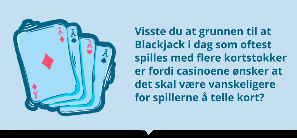 Blackjack fakta om korttelling