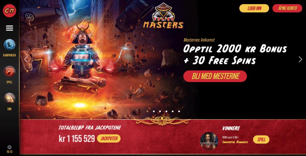 Casino Masters forside