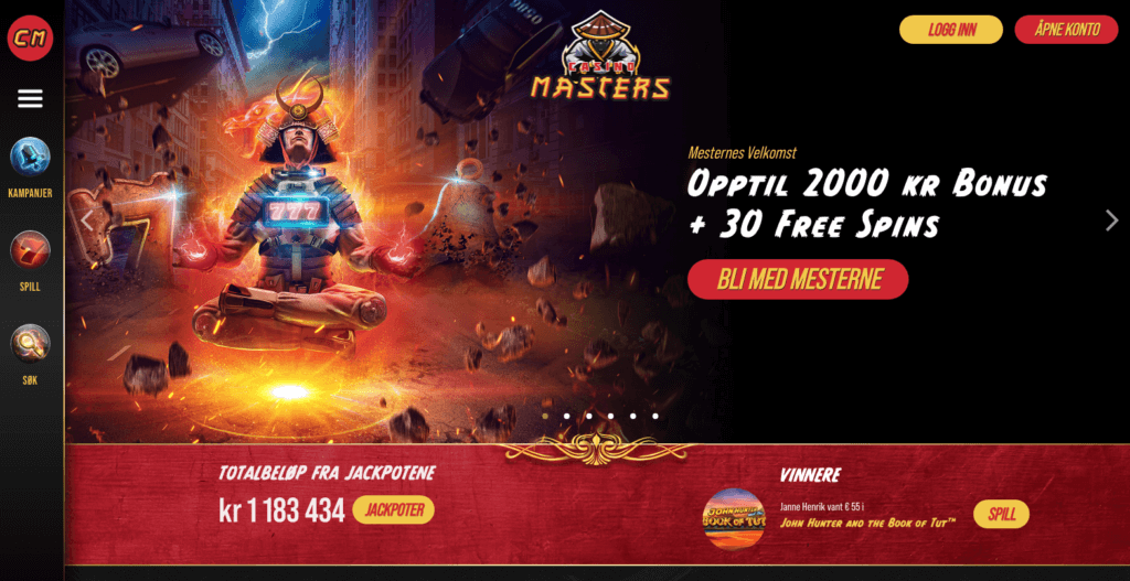 Casino Masters free spins og bonuser