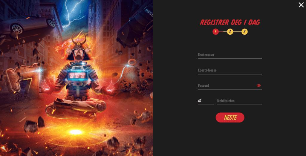 Casino Masters registrering