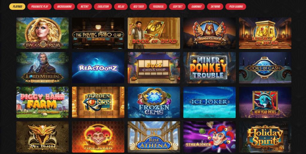 Casino Masters spill og spillutviklere