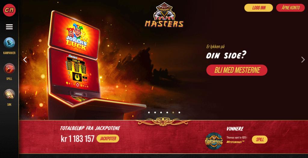 Casino Masters velkomstbonus