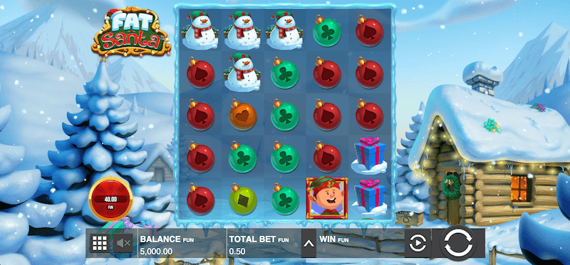 Fat Santa - spilleautomaten