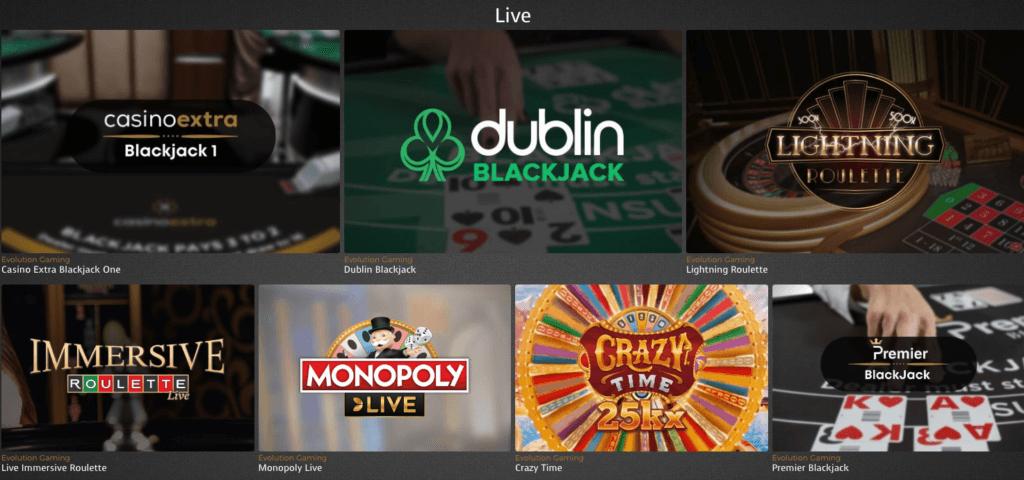 Casino Extra - Live Casino