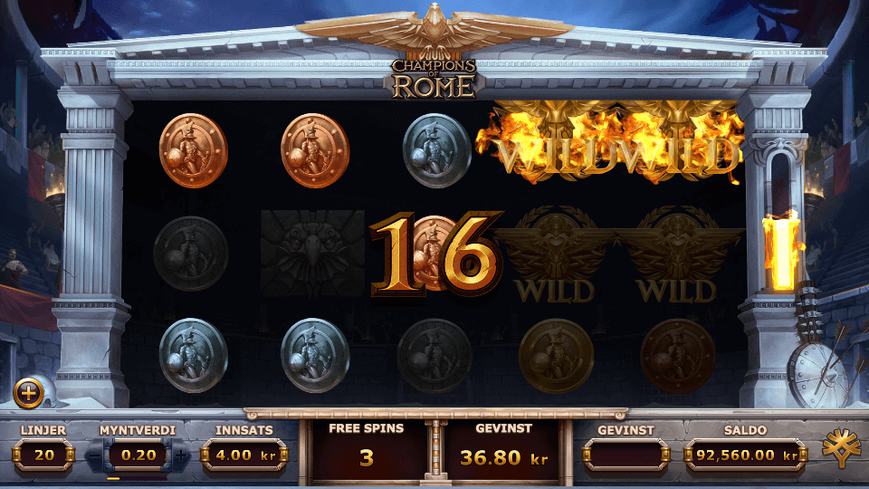 Champions of Rome free spins