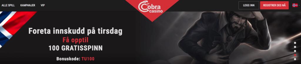 Cobra Casino tirsdagsspinn