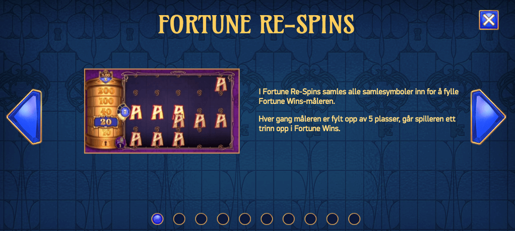 Codex of Fortune - Fortune Re-spins