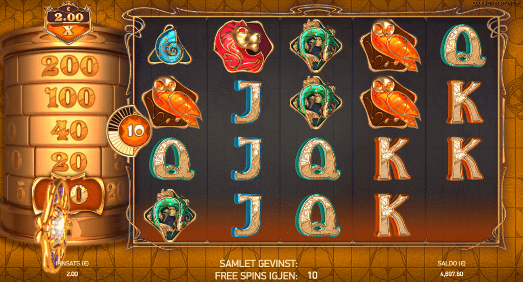 Codex of Fortune free spins