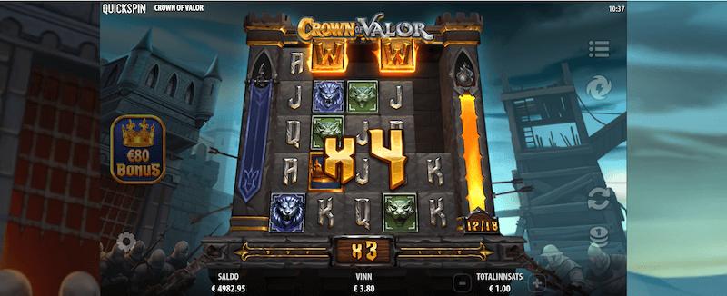 Crown of Valor - multiplikator-funksjon-wild-meter