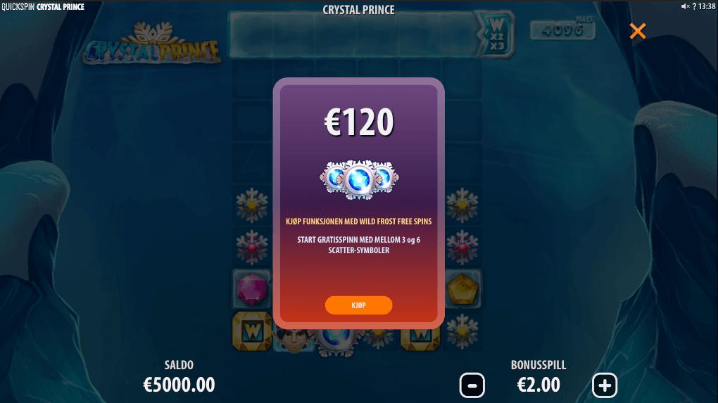 Crystal Prince bonus buy-funksjon