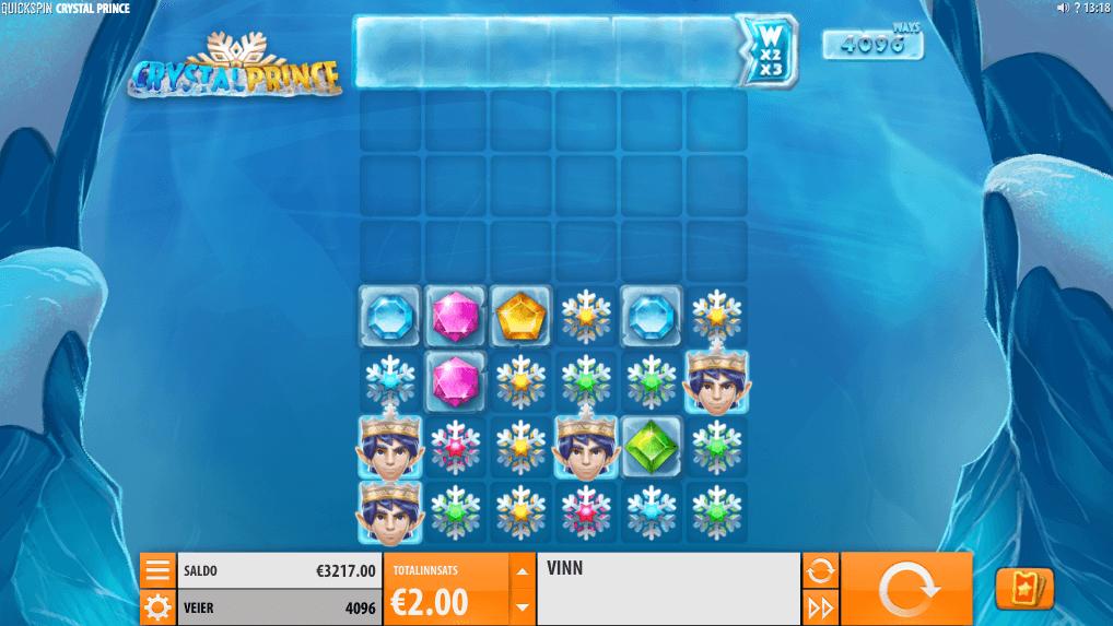 Spilleautomaten Crystal Prince hovedspill