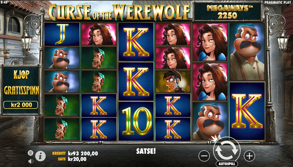 Spilleautomaten Curse of the Werewolf Megaways™ av Pragmatic Play