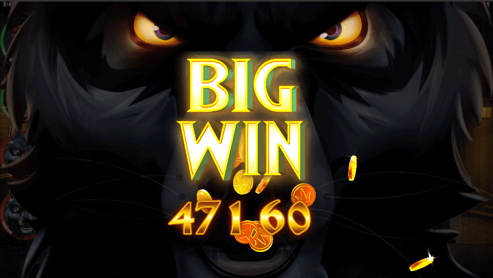 Storgevinst på spilleautomaten Curse of the Werewolf Megaways™