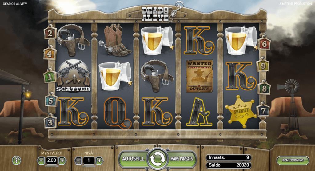 Spilleautomaten Dead or Alive av NetEnt