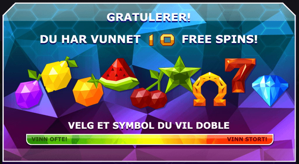 Doubles free spins valg