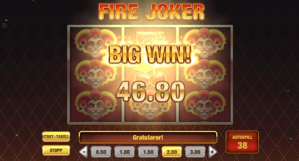 Fire Joker storgevinst