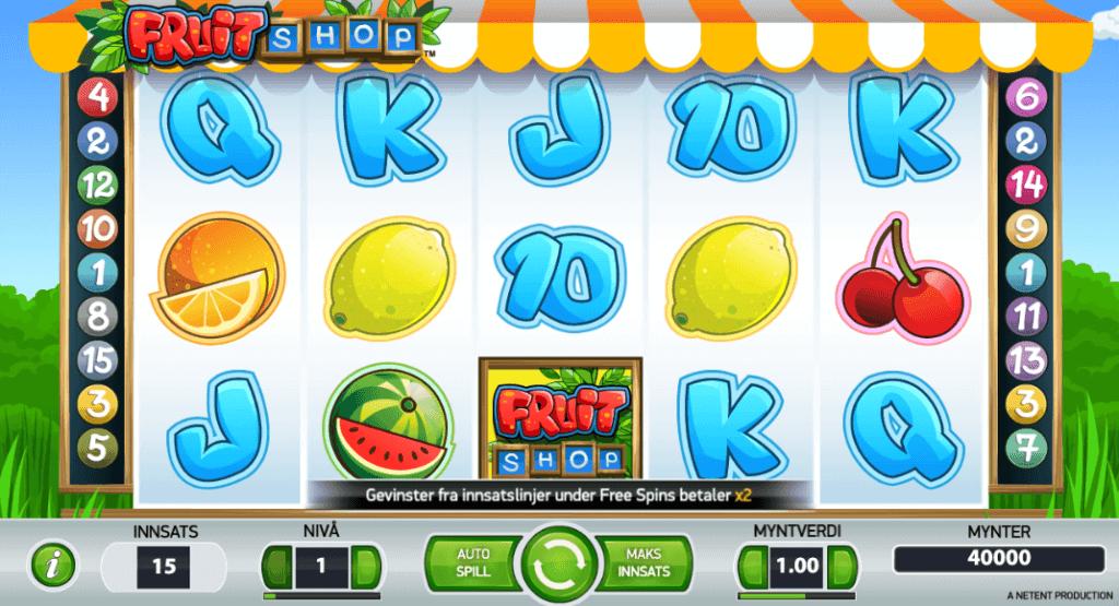 Spilleautomaten Fruit Shop av NetEnt
