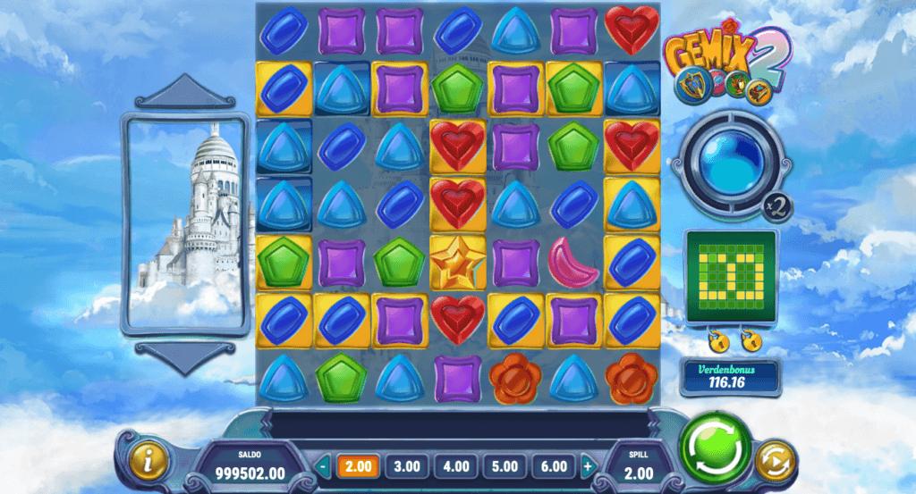 Spilleautomaten Gemix 2 hovedspill