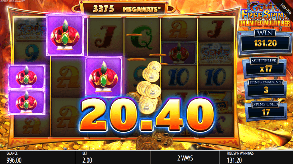 Genie Jackpots Megaways™ free spins