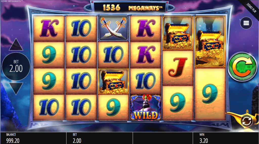 Spilleautomaten Genie Jackpots Megaways™ hovedspill