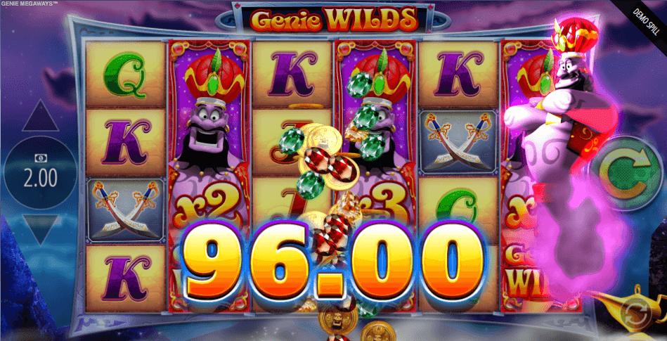 Genie Jackpots Megaways™ storgevinst