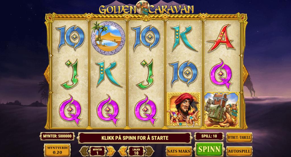 Spilleautomaten Golden Caravan av Play'n Go