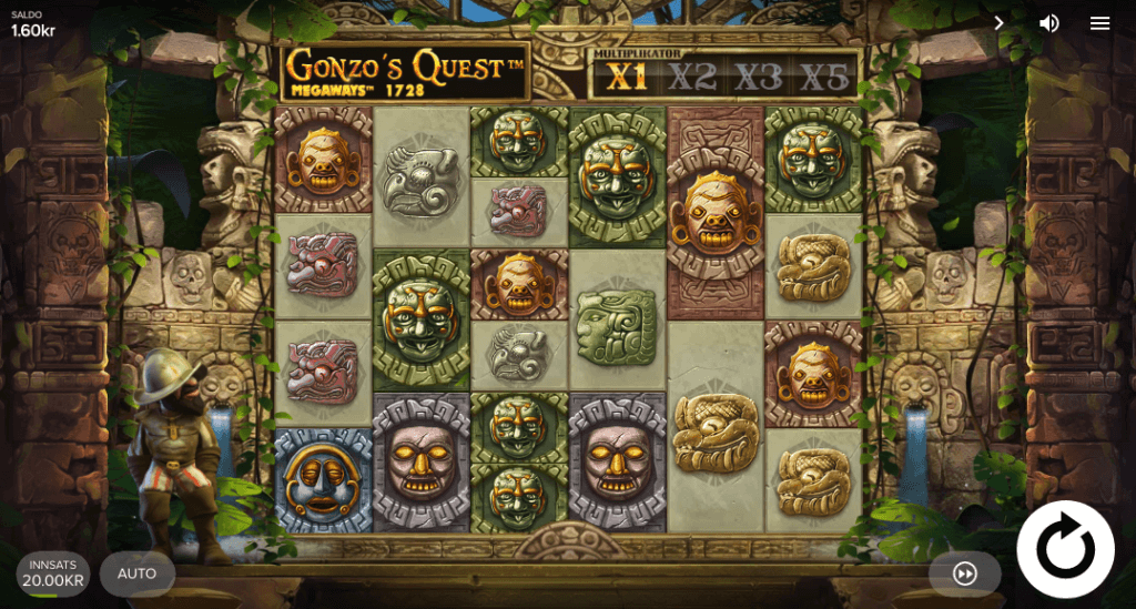 Spilleautomaten Gonzo's Quest Megaways™ av NetEnt