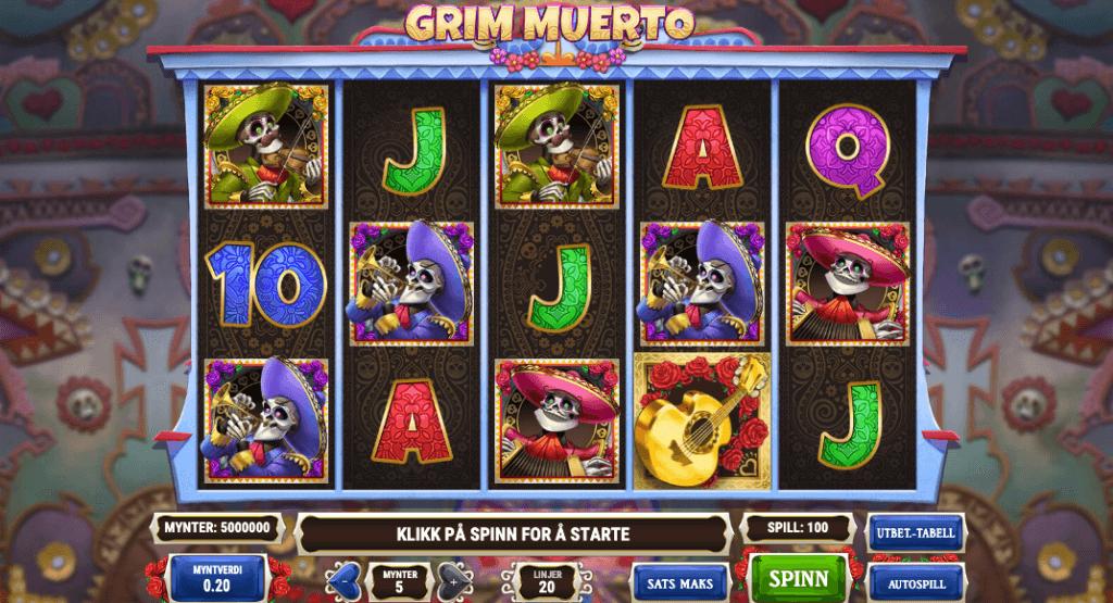 Spilleautomaten Grim Muerto av Play'n Go