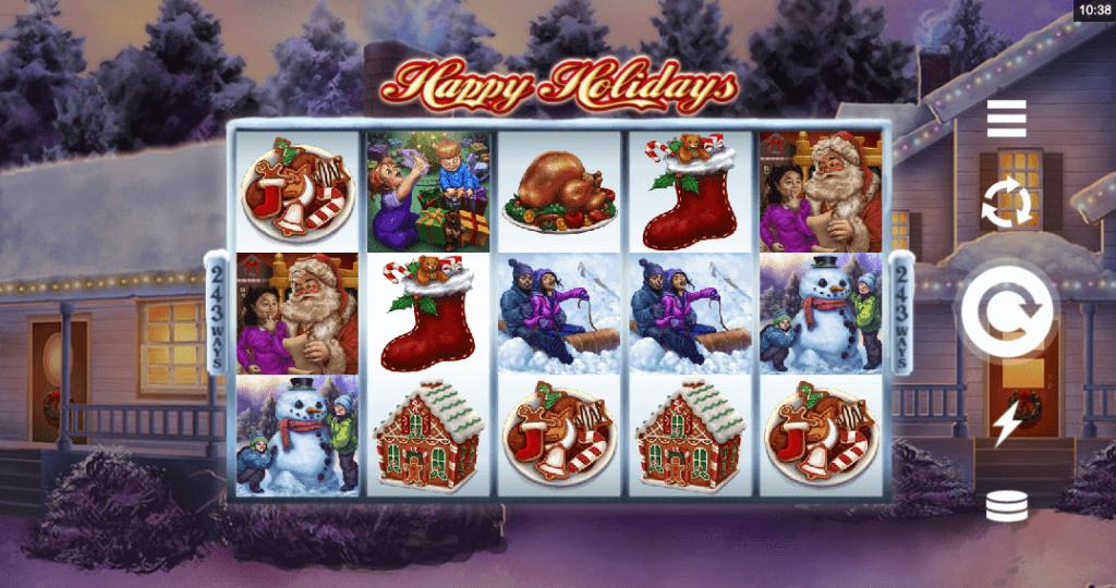 Spilleautomaten Happy Holidays av Microgaming