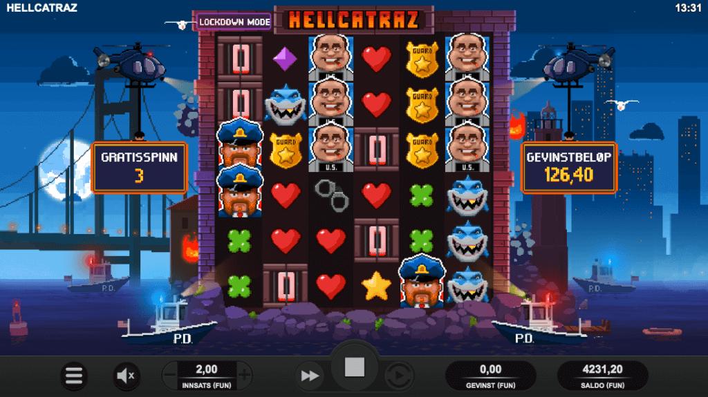 Hellcatraz free spins