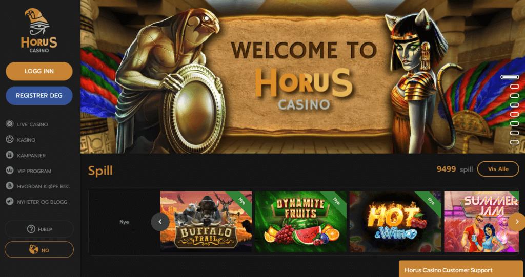 Horus Casino forside