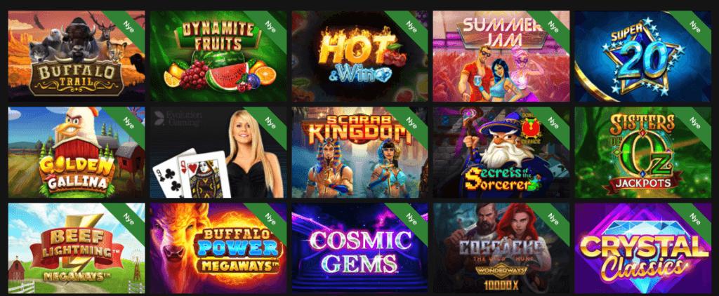Horus Casino spilleautomater