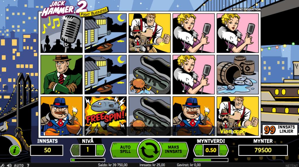 Jack Hammer 2 - Fishy Business - En nyere spilleautomat av NetEnt med høy RTP