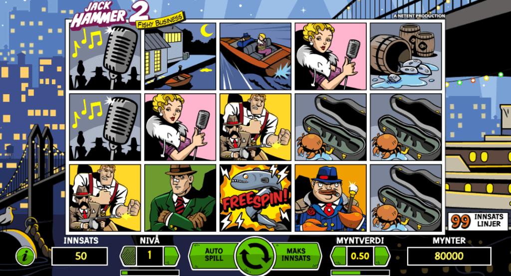 Spilleautomaten Jack Hammer 2: Fishy Business av NetEnt