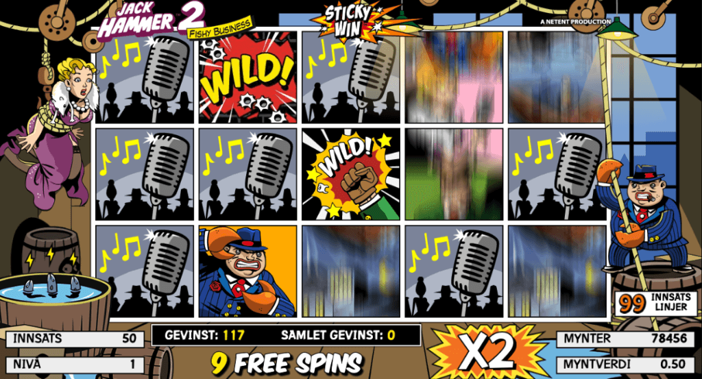 Jack Hammer 2: Fishy Business free spins