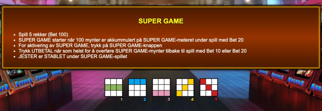 Jackpot Jester 50 000 - Super Game informasjon