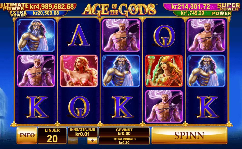 Jackpot spilleautomaten Age of the Gods